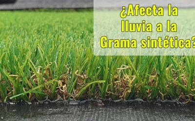 ¿Le afecta la lluvia a la Grama sintética?